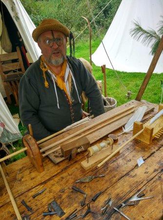 Bromsgrove, UK: Watching the Fletcher make arrows