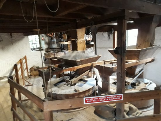New Abbey, UK: The milling floor