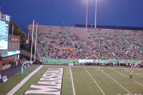 Huntington, WV: Inside the stadium.