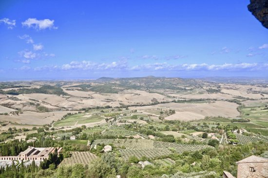 Montepulciano, Italy: View from the city hall tower.