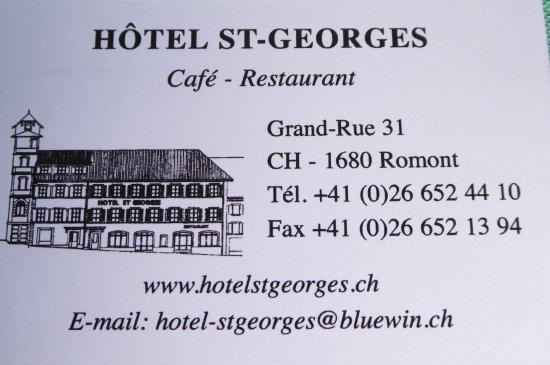 Hôtel-Restaurant St-Georges, Romont