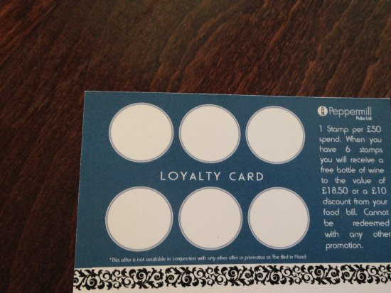 Waterlooville, UK: Loyalty card