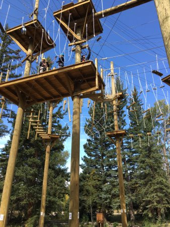 Saratoga, WY: The ropes course