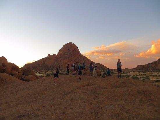 Usakos, Namibia: Por do sol