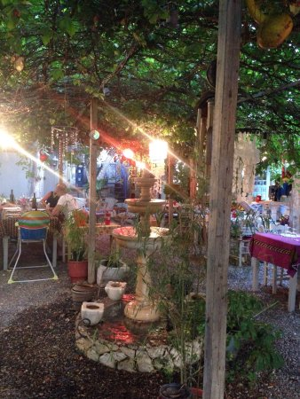 Ta Kalamia No Menu: Charming patio and garden - wish the service would have been this nice