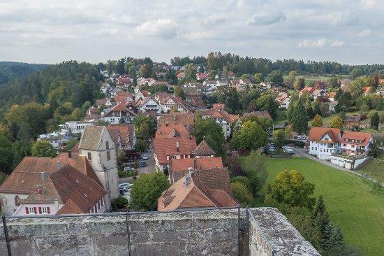 Burg Zavelstein: Ausblick von der Burgruine Zavelstein