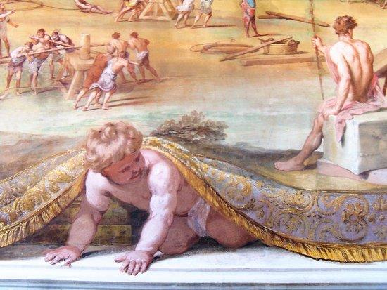 Sassuolo, Italia: Putto dipinto.