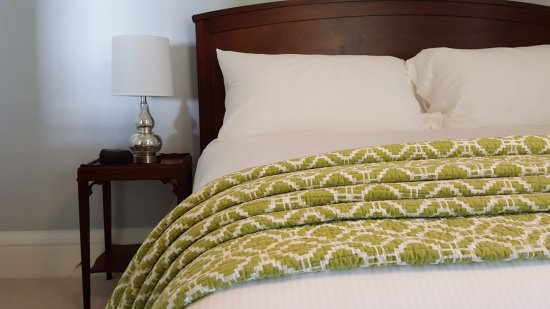 Bath, ME: The Castine room has a king bed with premium linens.