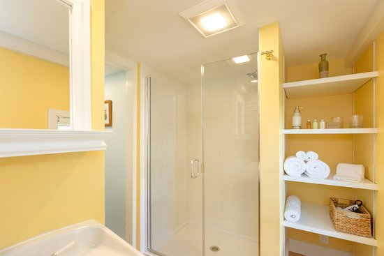 The private, updated en suite bathroom in the Reid room is unique.