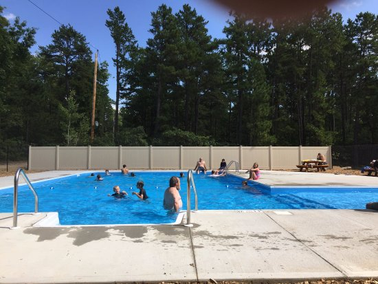 Brownfield, ME: Our new heated in-ground pool!
