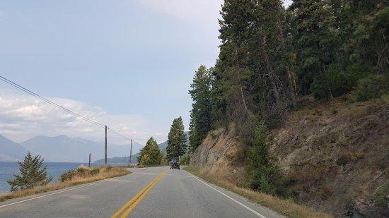 Kaslo, Canada: Kootenay Lake along Hwy 3A