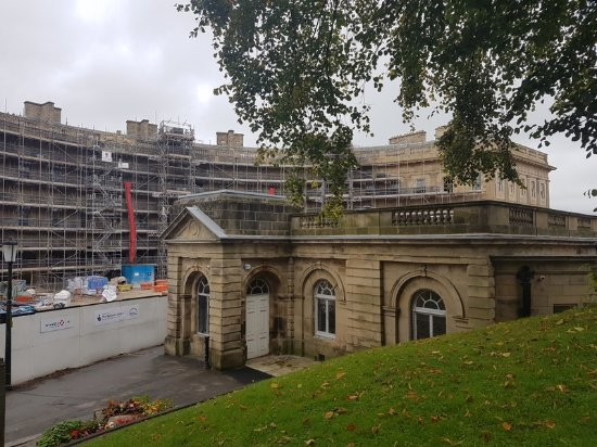 Disley, UK: Refurbishment taking place