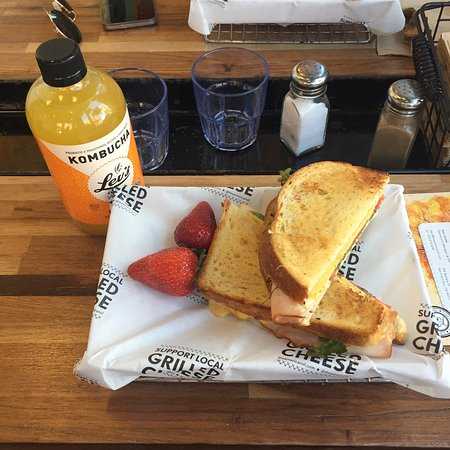 Club turkey & kombucha - Picture of The American Grilled Cheese ...