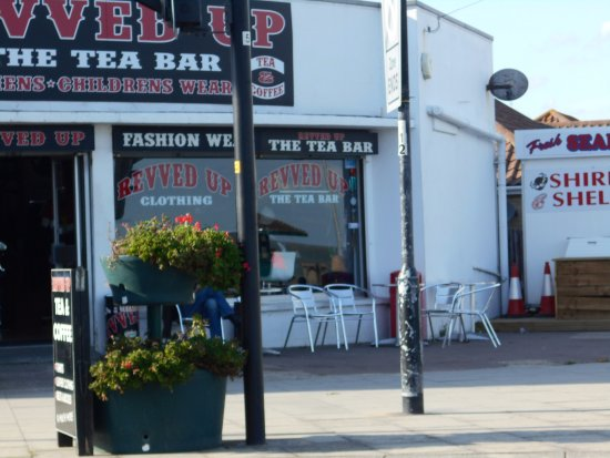 Walton-on-the-Naze, UK: An outside view of Revved Up. Opposite the sea front.