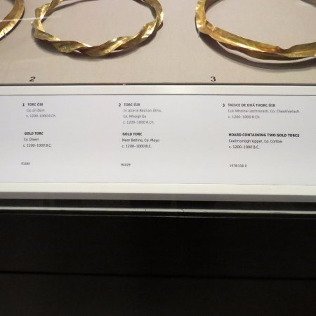 National Museum of Ireland - Archaeology: One of the many displays of gold jewelry