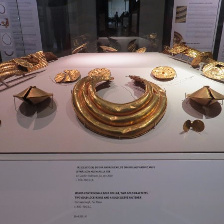 National Museum of Ireland - Archaeology: Over-the-top gold adornments for men.