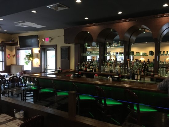 Seekonk, MA: An attractive and ample bar space is a great place for meeting friends or for date night!