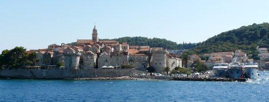 Korcula Island, Croatia: Approach to Korcula Town