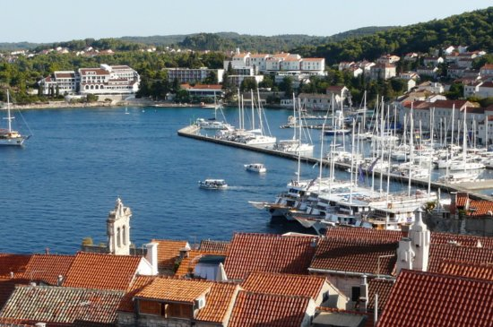 Korcula Island, Κροατία: View from the bell tower.