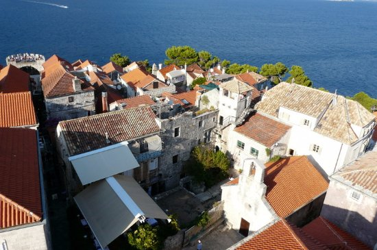 Korcula Island, Κροατία: Another view from the bell tower.