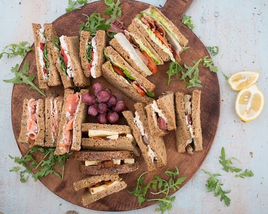 Otley, UK: Our selection of freshly made to order sandwiches