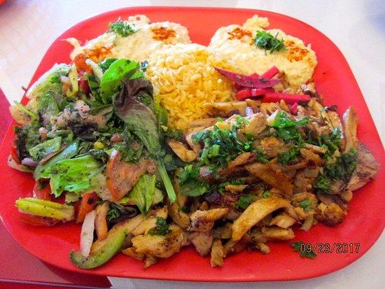 Bethel, Κονέκτικατ: Chicken Shawarna platter
