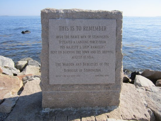 A rememberence at the tip of Stonington Point beside Dubois Beach