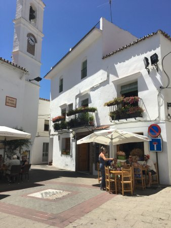 Istan, Spain: The front of the bar.