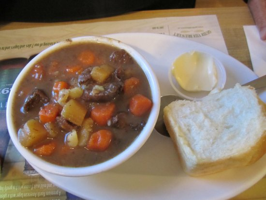 Earl's: Moose Stew and homemade bread