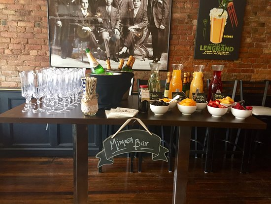 Coxsackie, NY: Mimosa Bar for a catered brunch