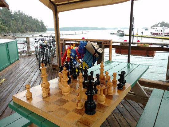 Deer Harbor, WA: giant chess board