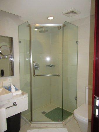 Yulong International Hotel: The shower.