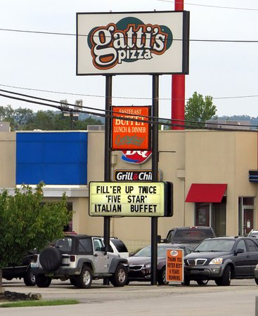 Shepherdsville, Κεντάκι: sign for Mr. Gatti's Pizza