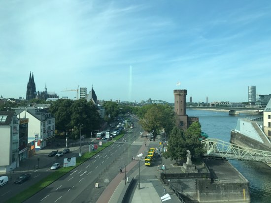 art'otel cologne: river from the room