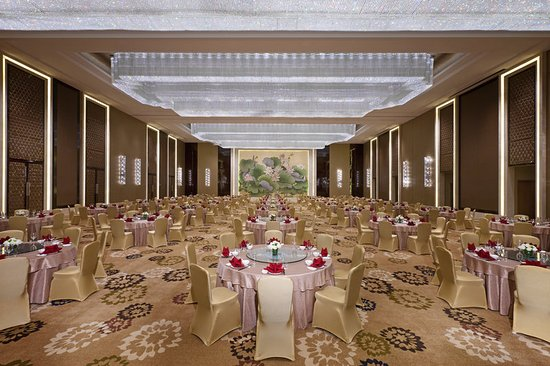 Daqing, China: Ballroom - Chinese wedding setup