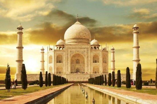 Taj Mahal am selben Tag von Delhi