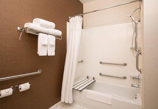 The Woodlands, TX: Accessible Guest Bathroom Bathtub