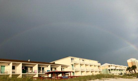 Rainbow over Sunset Inn