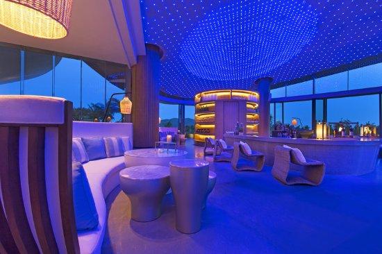 Lingshui County, Cina: Lobby Lounge night view
