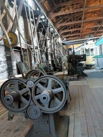Yakima, WA: Machines in trolley barn