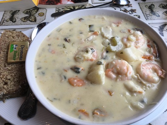 Dunfanaghy, Ierland: köstliche Chowder
