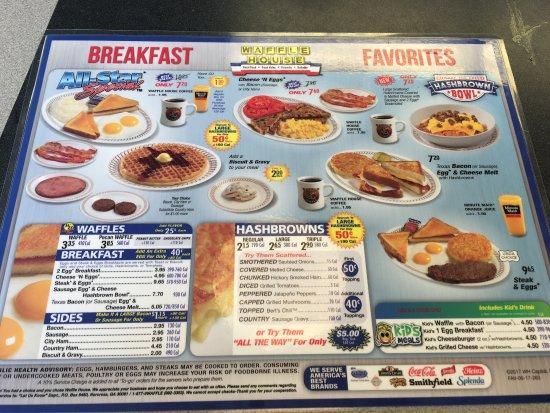 Waffle House, Charlotte   3309 Mulberry Church Rd   Menu, Prices U0026  Restaurant Reviews   TripAdvisor