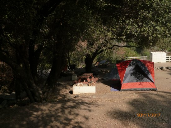 Indian Flat Campground: typical camp site