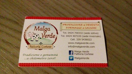 Conco, Italie : Malga Verde