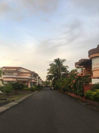 Lotus Beach Resort: View from the hotel's lane