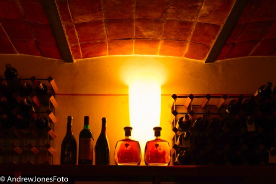Paciano, Italia: some bottles of grappa in the collection
