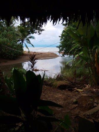 """Drake Bay, Costa Rica: Aquí en el restaurante """"El Tortuguero"""" disfrutando una excelente comida"""