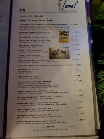 Bistro Alighieri: Alighieri menu sample
