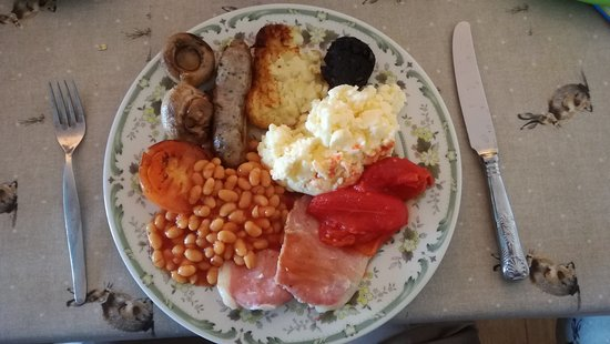 Sandilands, UK: The scrummy cooked breakfast we enjoyed at the Swallows, 24/9/2017. Matt.