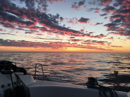Gosport, UK: beautiful sunsets while sailing